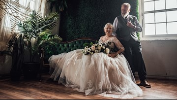 Grandparents stun the internet in 60th anniversary photo shoot