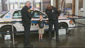 It started with a hug: Police welcome 5-year-old as honorary officer