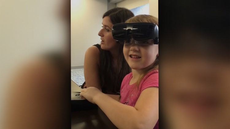 Jordan Mayo was born with optic nervehypoplasia, but a pair of high-tech glasses helped her to see clearly. However, they cost $15,000 and are not covered by health insurance.