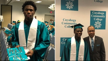 Ohio student graduates from college before earning high school diploma