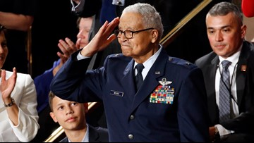 100-year-old Tuskegee Airman honored at State of the Union after being promoted to Brigadier General