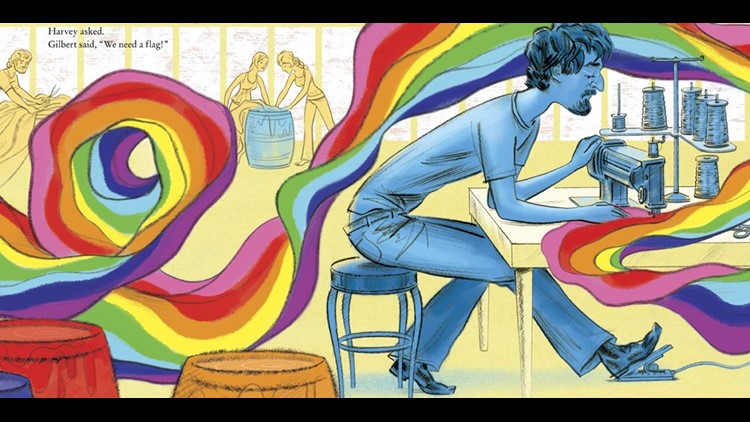 "A page from ""Pride: The Story of Harvey Milk and the Rainbow Flag.""Courtesy of Random House Children's Books"