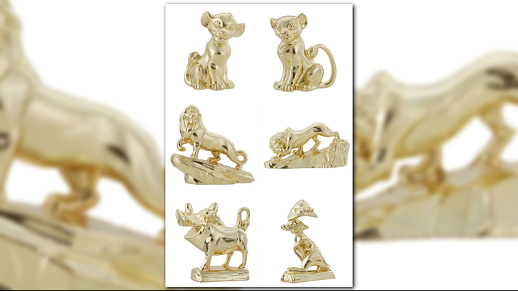 Six tokens of Lion King Monopoly