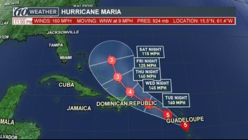Maria intensifies into a monster Category 5 hurricane