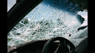 Boat oar goes through windshield of Florida woman's car