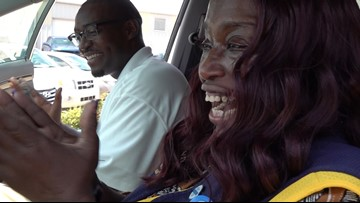 Walmart cashier who walked 6 miles to work surprised with new car