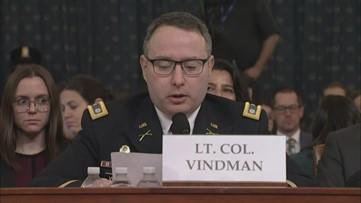 Lt. Col. Alexander Vindman gives opening statement in public impeachment hearing
