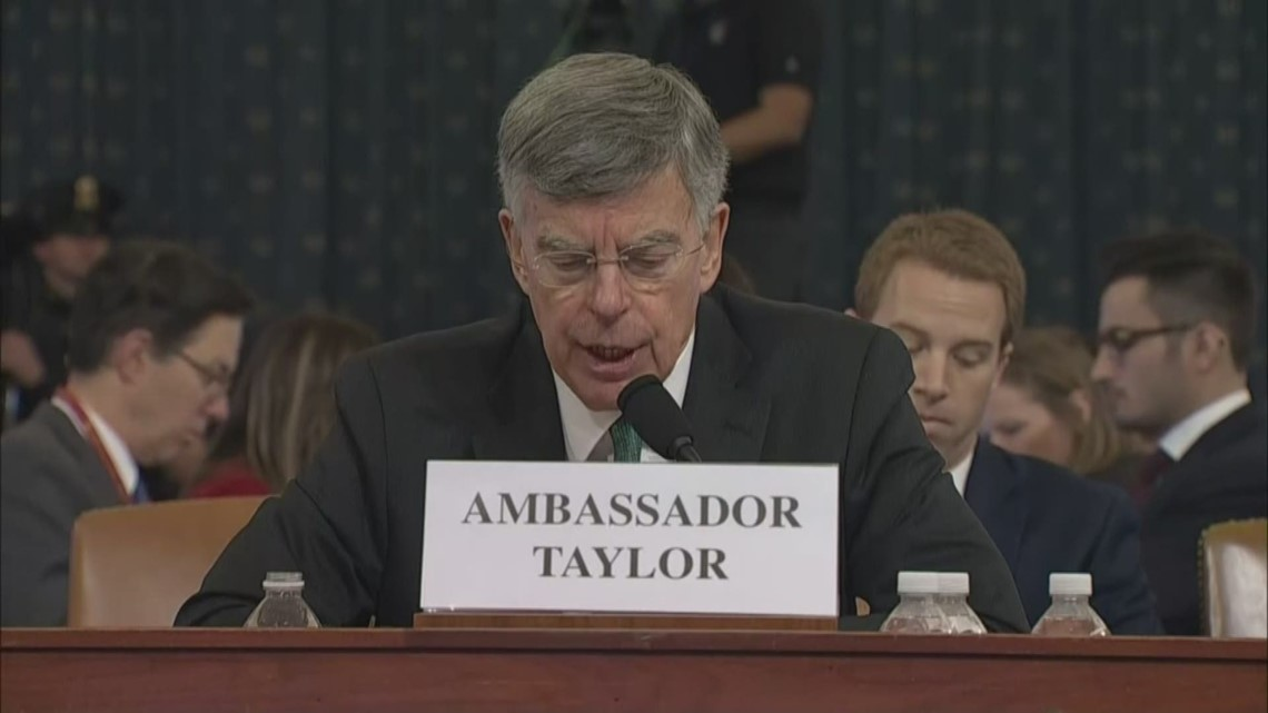 Ambassador Taylor tells lawmakers 'irregular channels' created for Ukraine policy