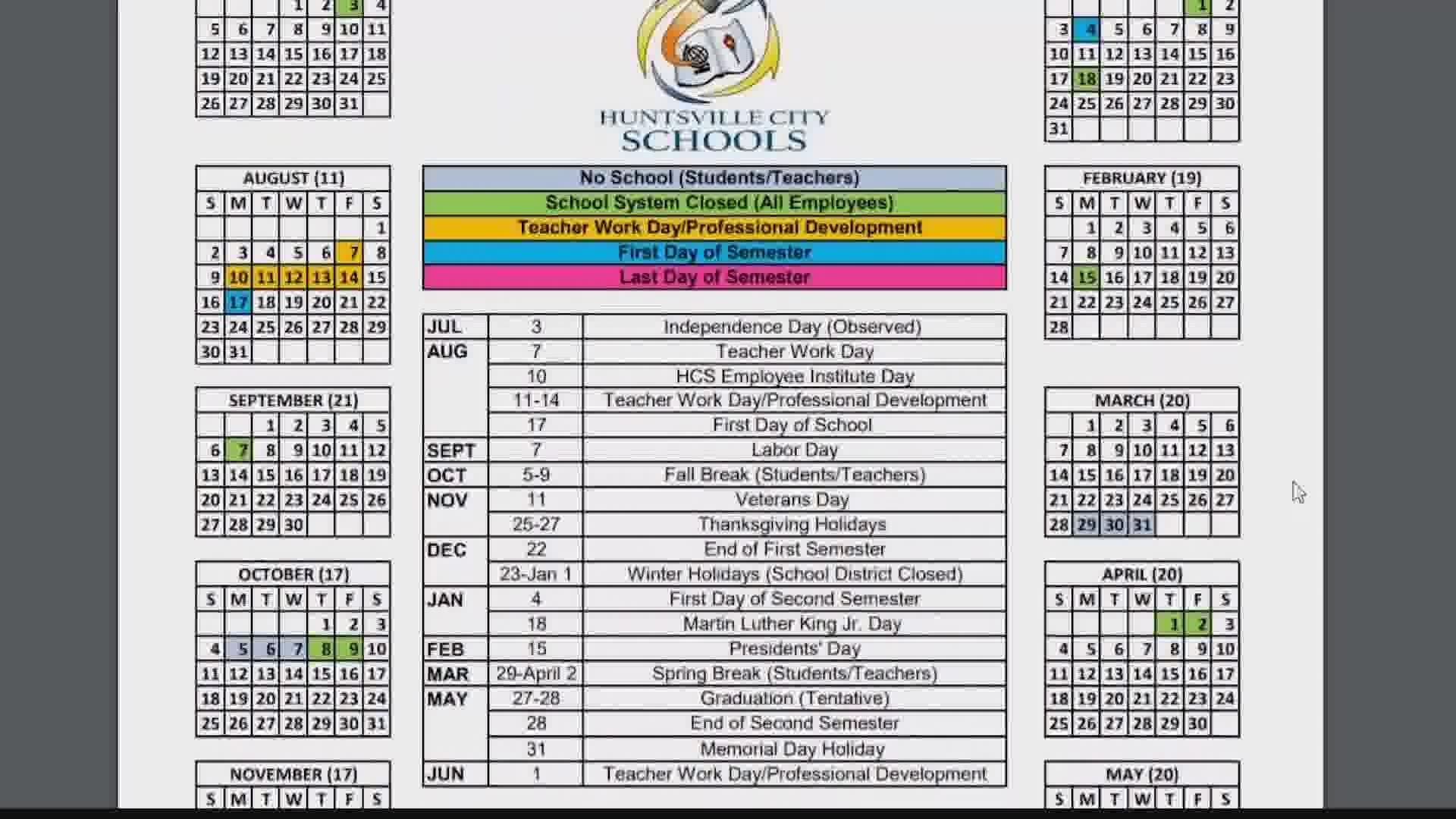 Seattle Schools Calendar 2021 Wallpaper